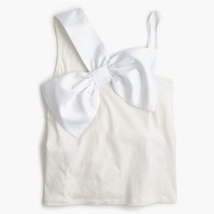 J. Crew NWT Asymmetrical Bow Tank Top Cami White